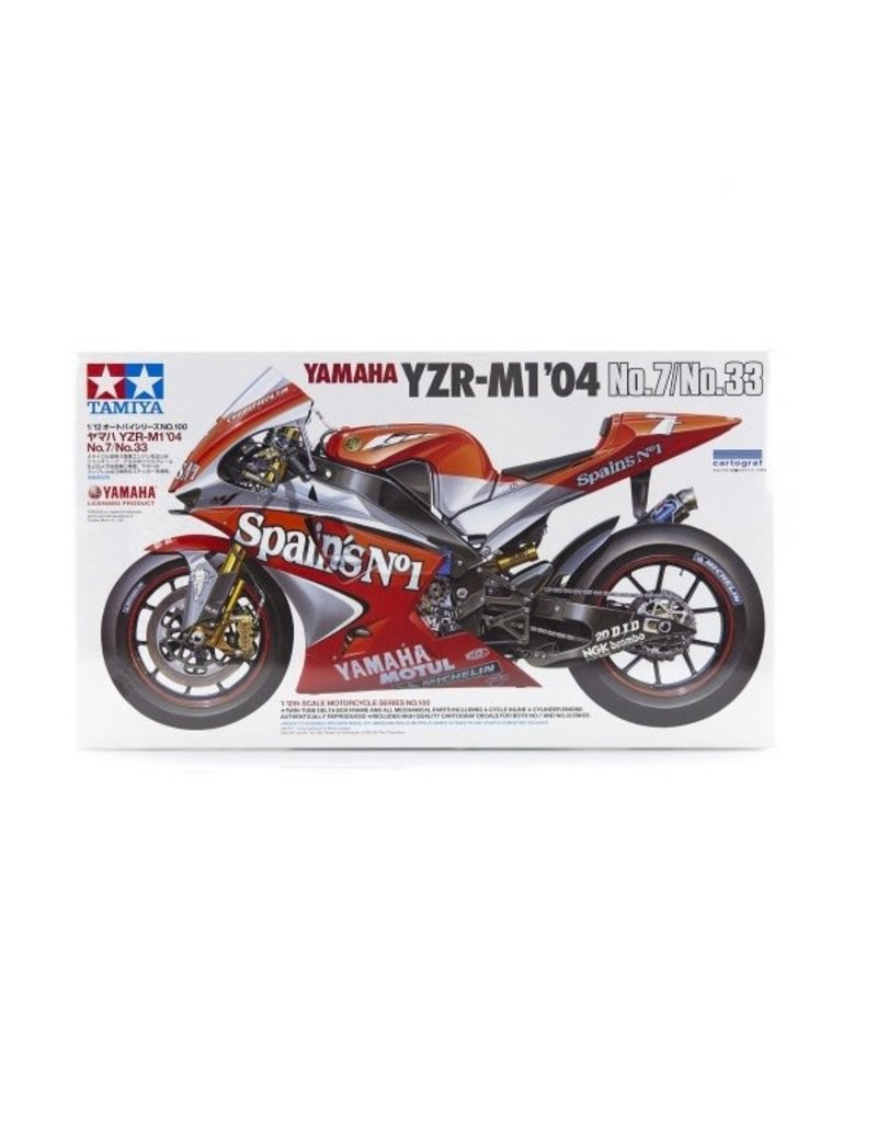 Tamiya Tamiya 1/12 Yamaha YZR-M1 04 No.7/No.33 Motorcycle Plastic Model Kit