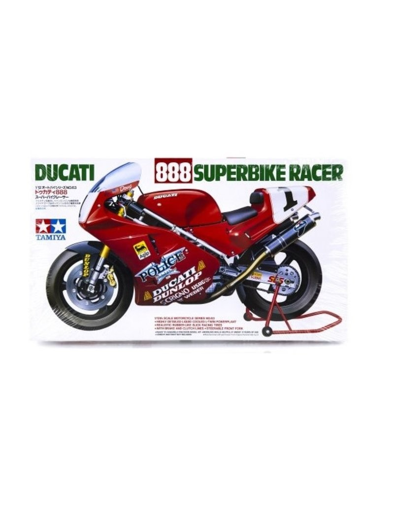 Tamiya Tamiya 1/12 Ducati 888 Superbike Race Motorcycle Plastic Model Kit