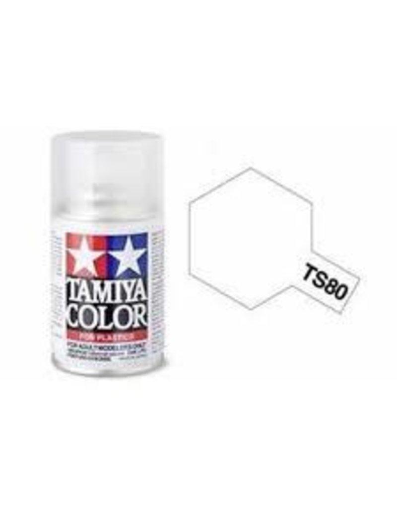 Tamiya TS-80 Flat Clear Lacquer Spray Paint 100ml