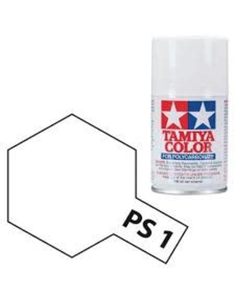 Tamiya PS-1 White Polycarbanate Spray Paint 100ml