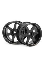 "HPI Racing HPI 1.9"" (6mm Off-Set) TE37 Black Rims 2Pcs"