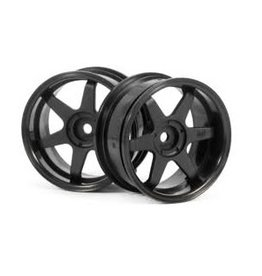 """HPI Racing HPI 1.9"""" (6mm Off-Set) TE37 Black Rims 2Pcs"""