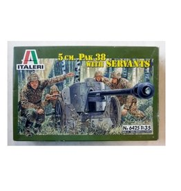 Italeri Veh 5CM Pak 38 + Servants