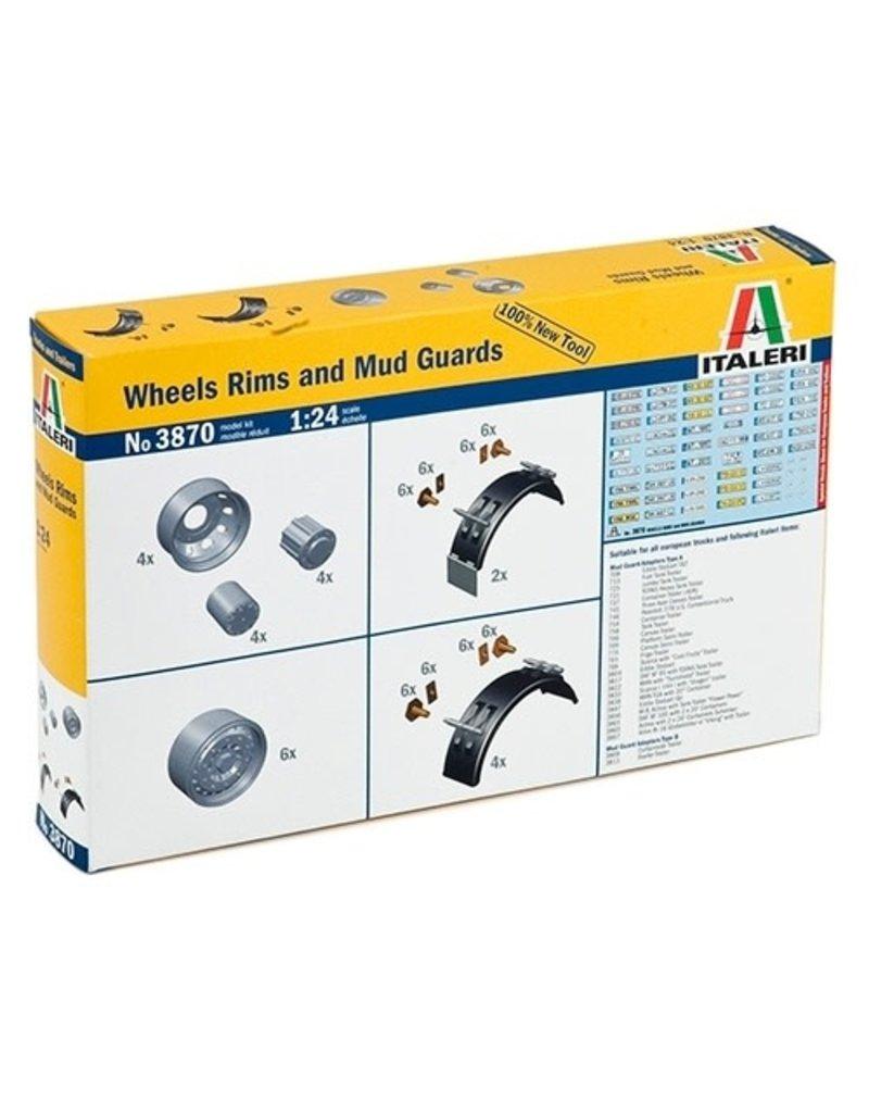 Italeri Italeri 3870 1/24 Wheel Rims and Mud Guards