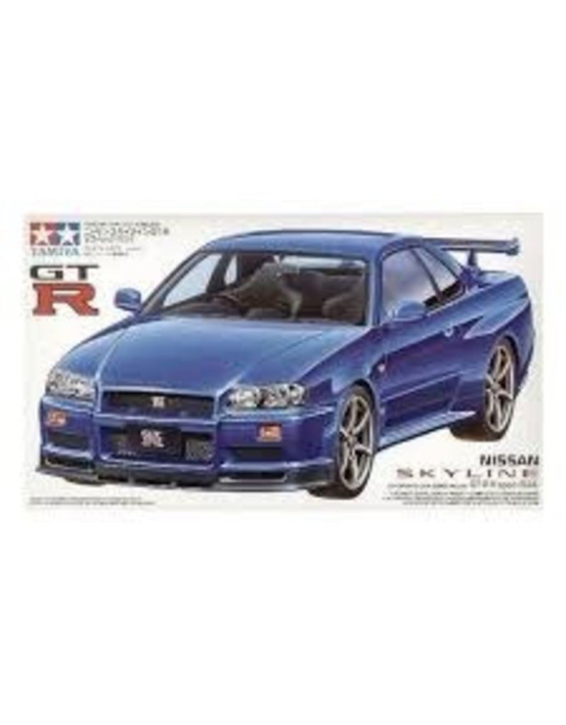 Tamiya Tamiya 1/24 Nissan Skyline R34 GT-R Scaled Plastic Model Kit