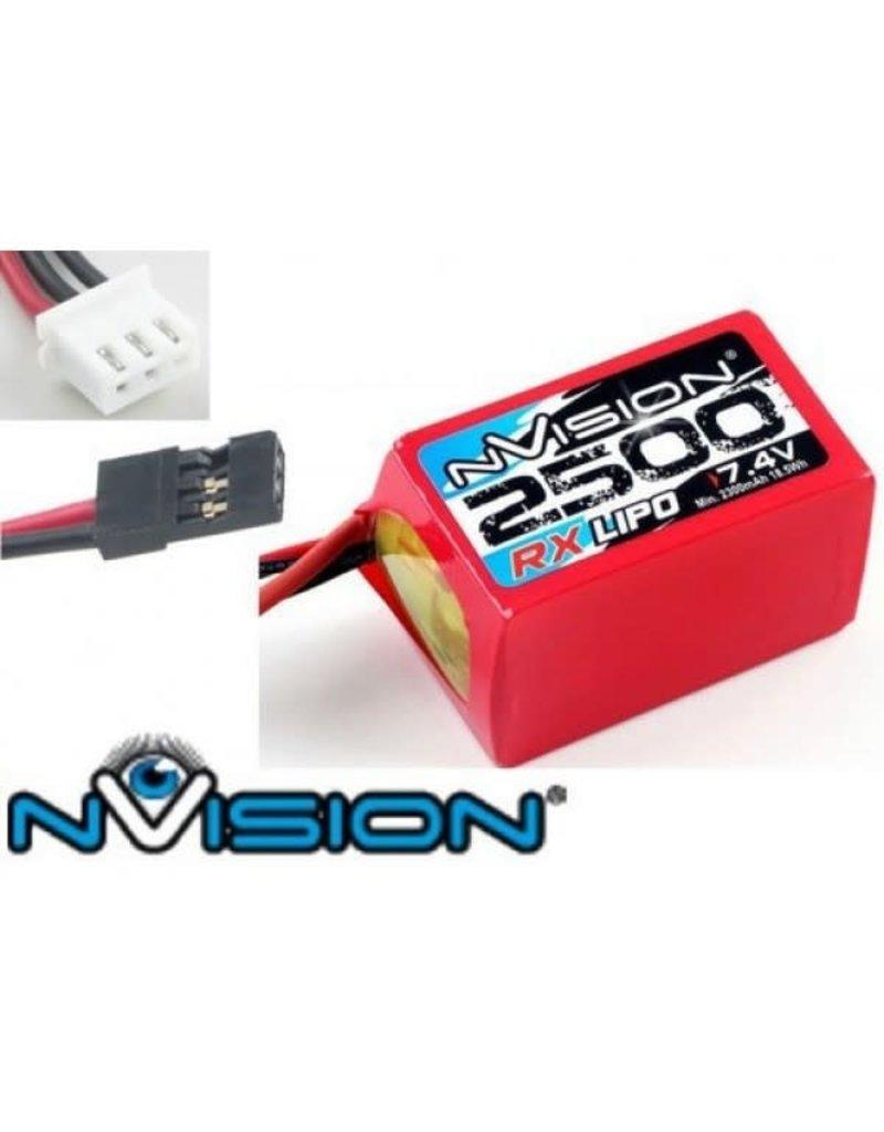 nVision nVision RX LiPo 2500 7.4V Hump (Uni plug)