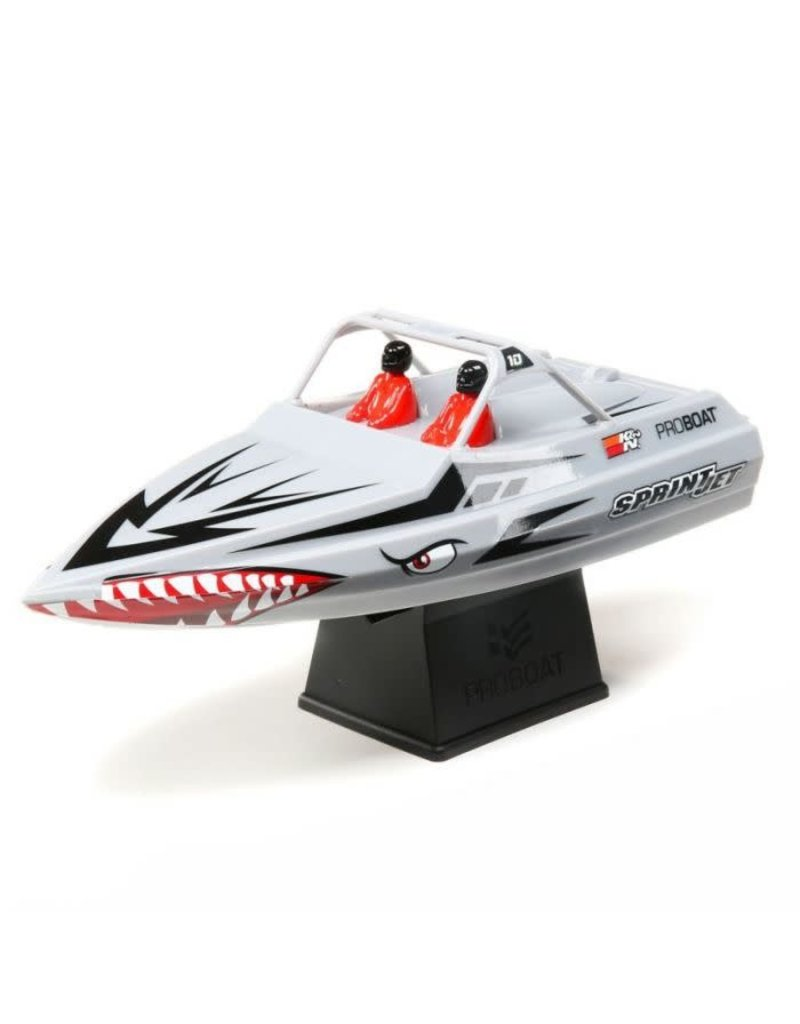 "Proboat Pro Boat Sprintjet 9"" Self-Righting Jet Boat Brushed RTR, Silver RC Boat"