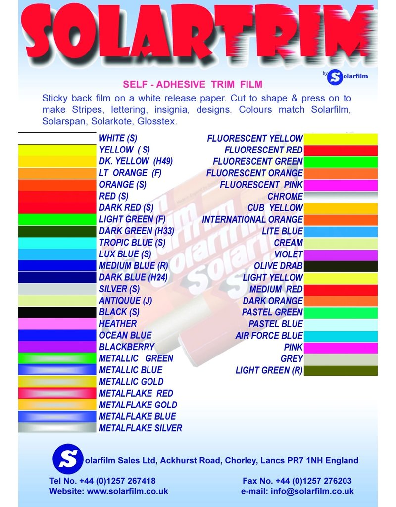Solarfilm Solarfilm Solartrim Dark Blue