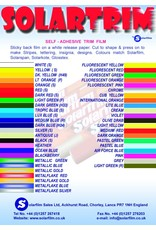 Solarfilm Solarfilm Solartrim Fluro Red