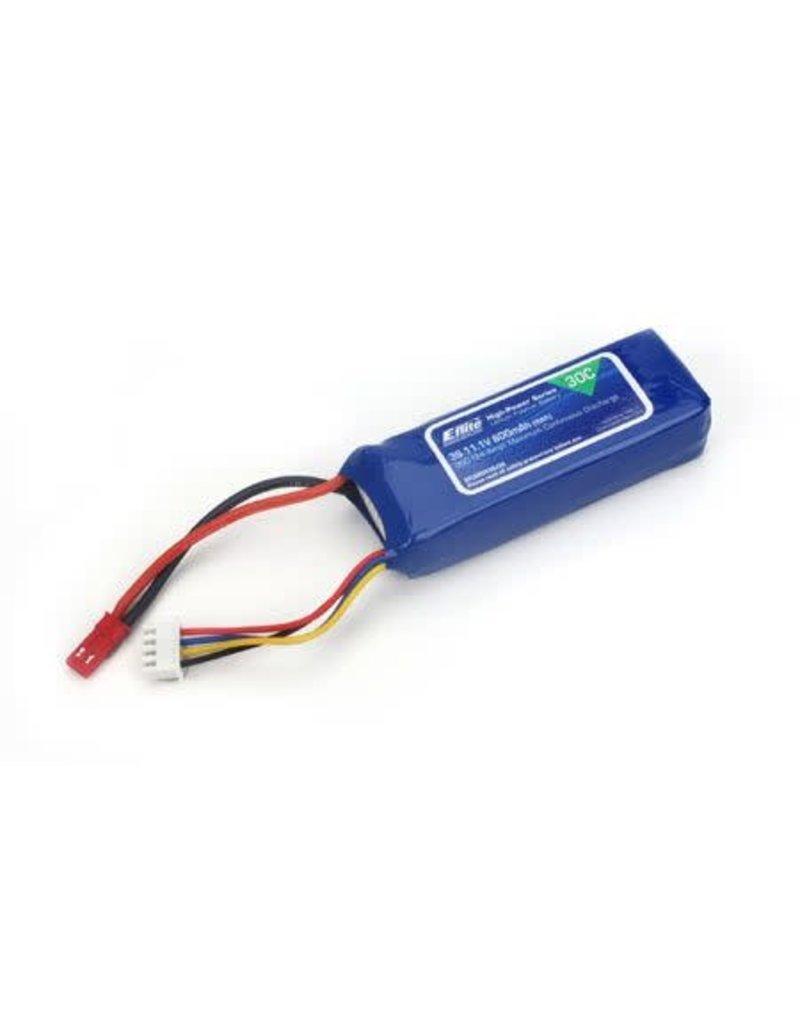 E-Flite E-Flite 800mAh 3S 11.1V 30C LiPo Battery, 18AWG JST