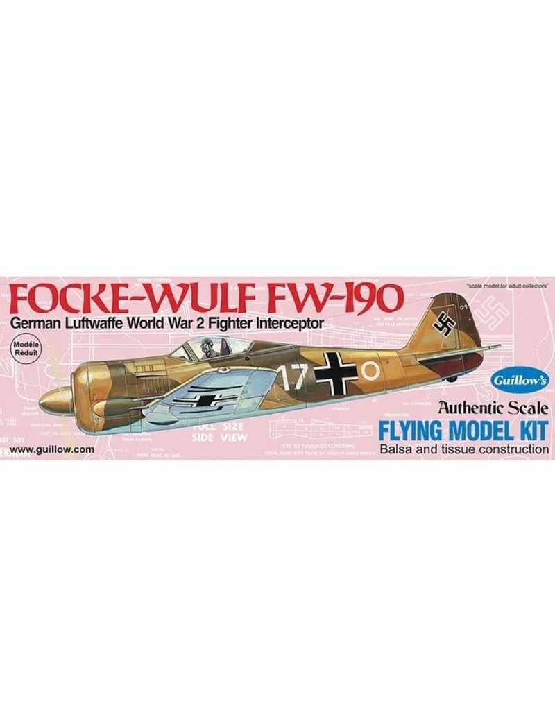 Guillows FOCKE-WULF FW-190 MODEL KIT