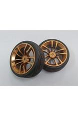 Correct model CR 1/10 Onroad Semi slick tyre-GOLD 12mm Hex 0-offset