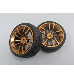 Correct model CR 1/10 Onroad Semi slick tyre-GOLD 12mm Hex 0-offset