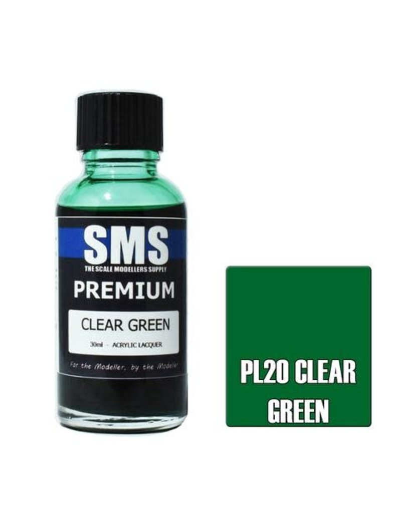 The Scale Modellers Supply Premium CLEAR GREEN 30ml
