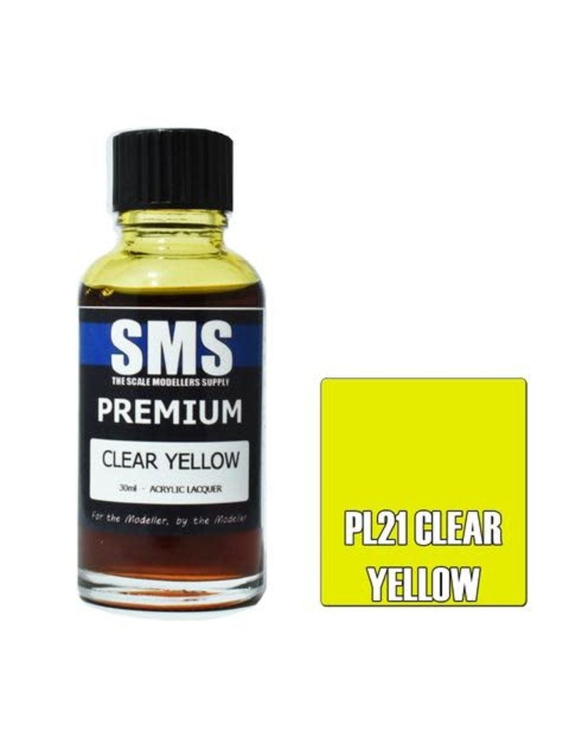 The Scale Modellers Supply Premium CLEAR YELLOW 30m