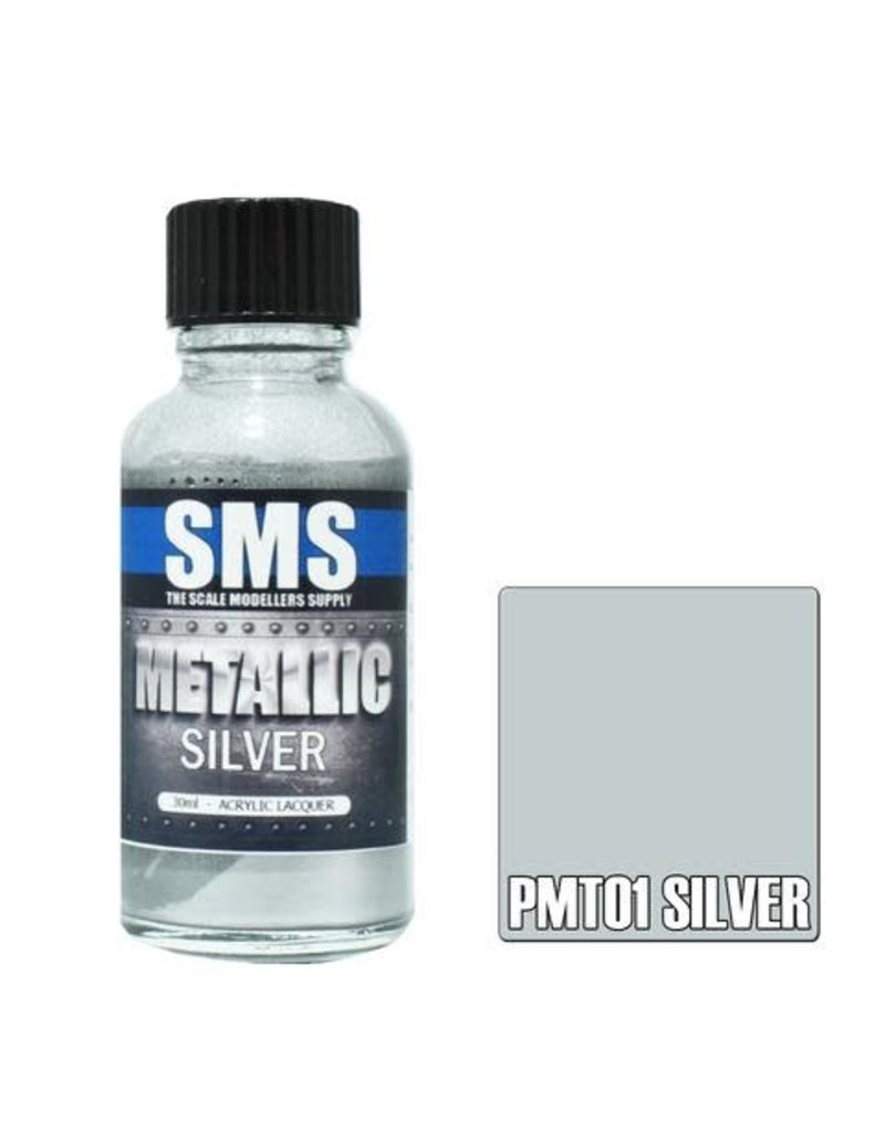 The Scale Modellers Supply Metallic SILVER 30ml
