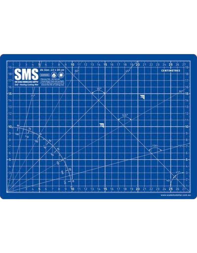 The Scale Modellers Supply Premium Cutting Mat A4 BLUE