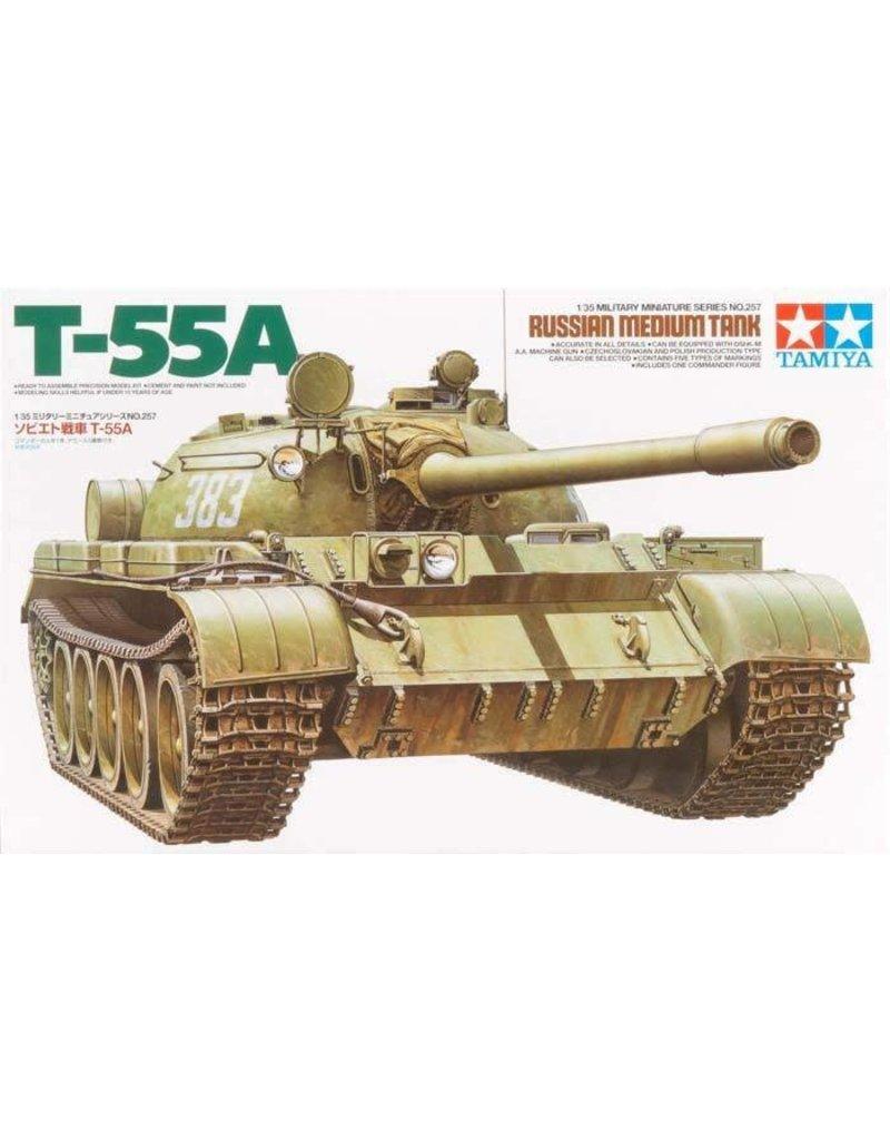 Tamiya Tamiya 35257 1/35 Russian Medium Tank T-55A Plastic Model Kit