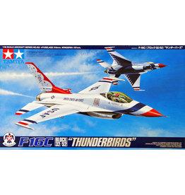 """Tamiya Tamiya 61102 1/48 F-16C Block 32/52 """"Thunderbirds"""" Plastic Model Airplane Kit"""
