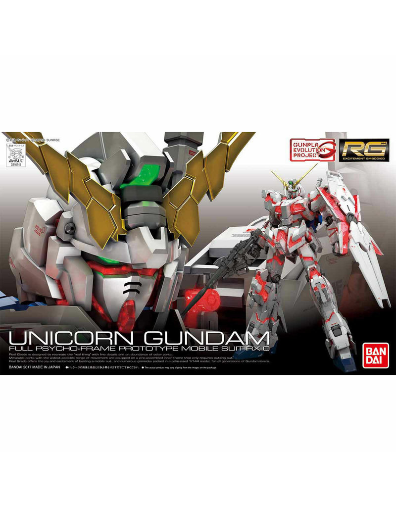 Bandai RG 1/144 UNICORN GUNDAM