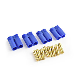 Tornado RC EC5 Plug Male(Male bullet with female housing) 4pcs/bag