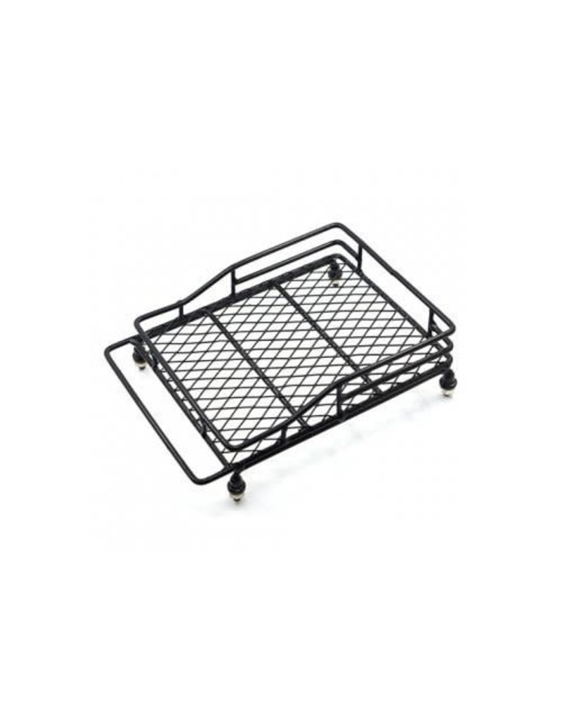 Yeah Racing Yeah Racing 1/10 140x100mm Black Metal Roof Rack