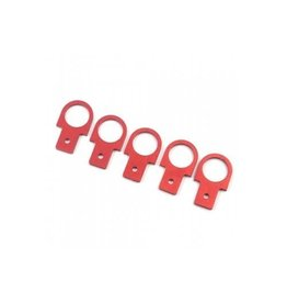 Yeah Racing Yeah Racing 1/10 Red Aluminium Tow Hooks Scaled Accessorise 5Pcs