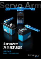 Dualsky DSS21776: Dualsky Alloy Servo Full Arm, 25T, 2.5inch, Blue