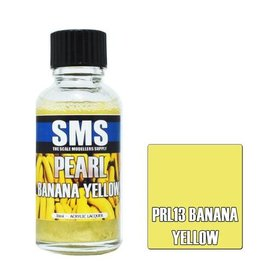 The Scale Modellers Supply Pearl Acrylic Lacquer BANANA YELLOW 30ml
