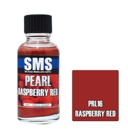 The Scale Modellers Supply Pearl Acrylic Lacquer RASPBERRY RED 30ml