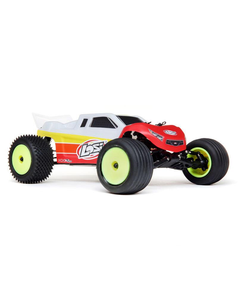 Losi Losi 1/18 Mini-T 2.0 2WD Stadium Truck Brushless RTR, Red