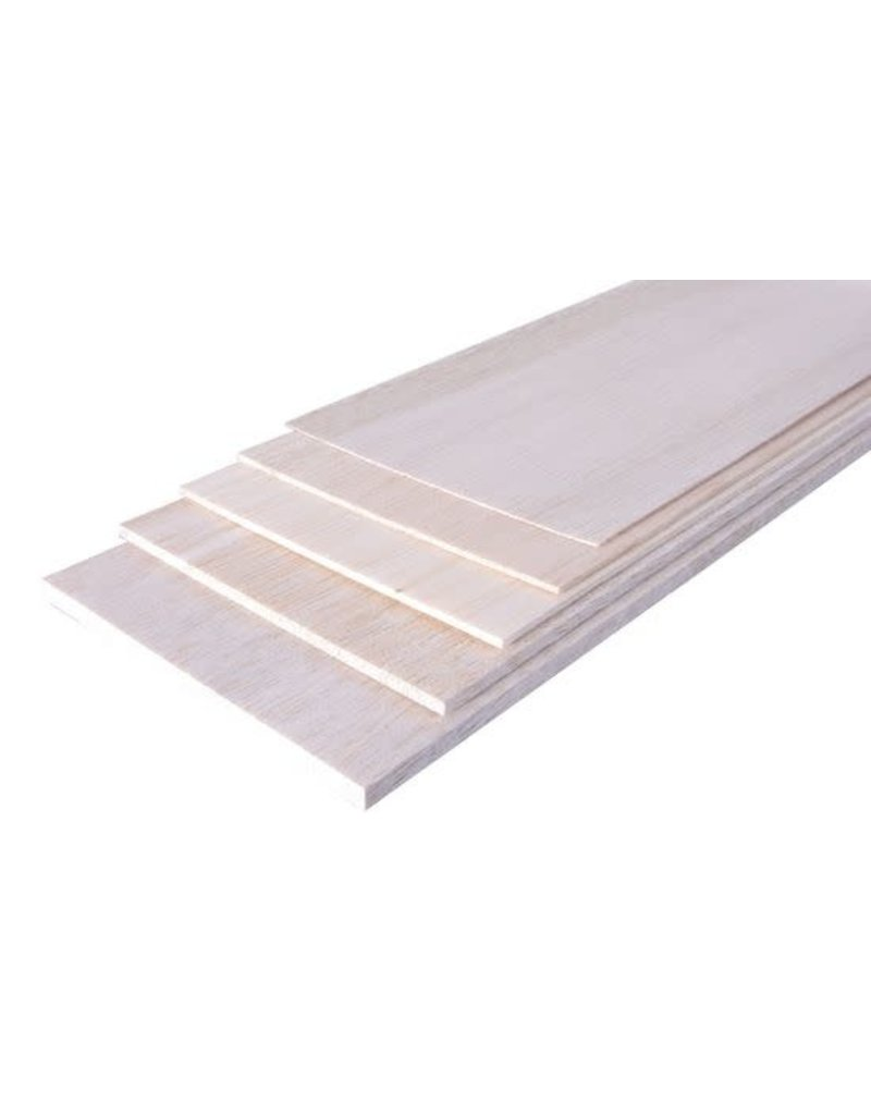 Model Engines 1.0MM 100X915MM PREMIUM GRADE BALSA SHEET