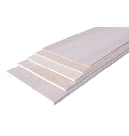Model Engines 1.0MM 100X1220MM PREMIUM GRADE BALSA SHEET