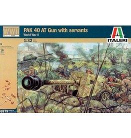 Italeri Italeri 6879 PAK 40 AT Gun with Servants