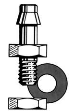Dubro Dubro Bolt On Pressure Fitting No.6-32