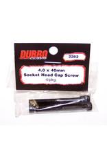 Dubro Dubro 4.0 X 40Mm Socket - Head Cap Screw(4)
