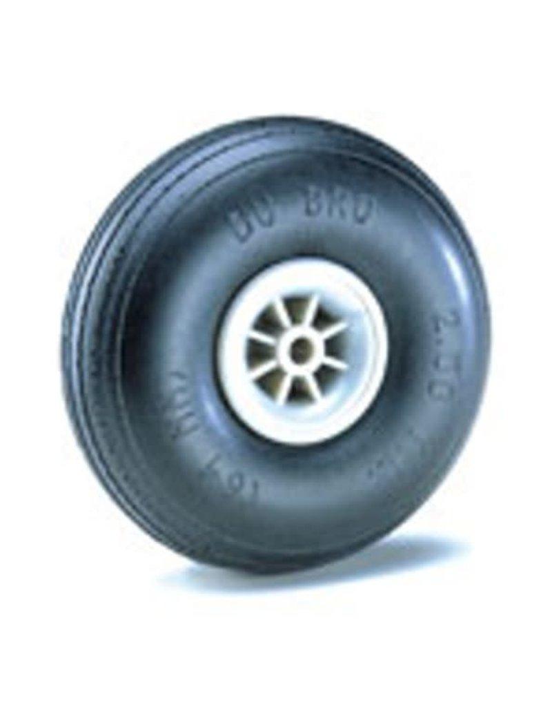 Dubro Dubro Wheel Treaded 1.75 Inch Pk2 LightWeight