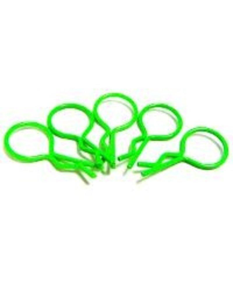 Hobby Works HobbyWorks Body Pins Fluro Green (5) 1/10