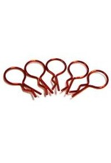 Hobby Works HobbyWorks Body Pins Metallic Red (5) 1/10