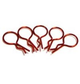 Hobby Works HobbyWorks Body Pins Metallic Red (5) 1/10