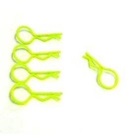 Hobby Works HobbyWorks Body Pins Fluro Yellow (lg) (5)