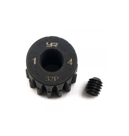 Yeah Racing Yeah Racing HD Steel 14T 32dp/0.8Mod Pinion Gear w/ 5mm Motor Bore