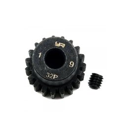 Yeah Racing Yeah Racing HD Steel 19T 32dp/0.8Mod Pinion Gear w/ 5mm Motor Bore