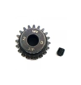 Yeah Racing Yeah Racing HD Steel 20T 32dp/0.8Mod Pinion Gear w/ 5mm Motor Bore