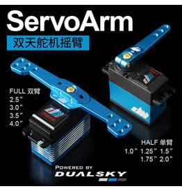 Dualsky DSS21771: Dualsky Alloy Servo Half Arm, 25T, 1.0inch, Blue