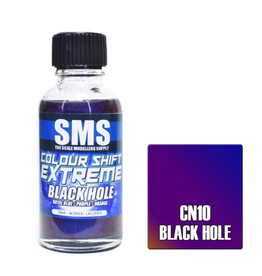 The Scale Modellers Supply Colour Shift Extreme Acrylic Lacquer BLACK HOLE 30ml