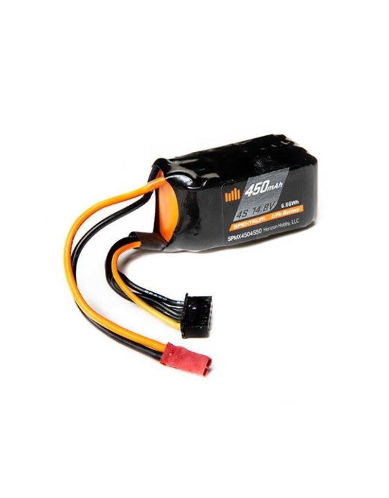 Spektrum Spektrum 450mah 4S 14.8v 50C Smart LiPo Battery with JST Connector