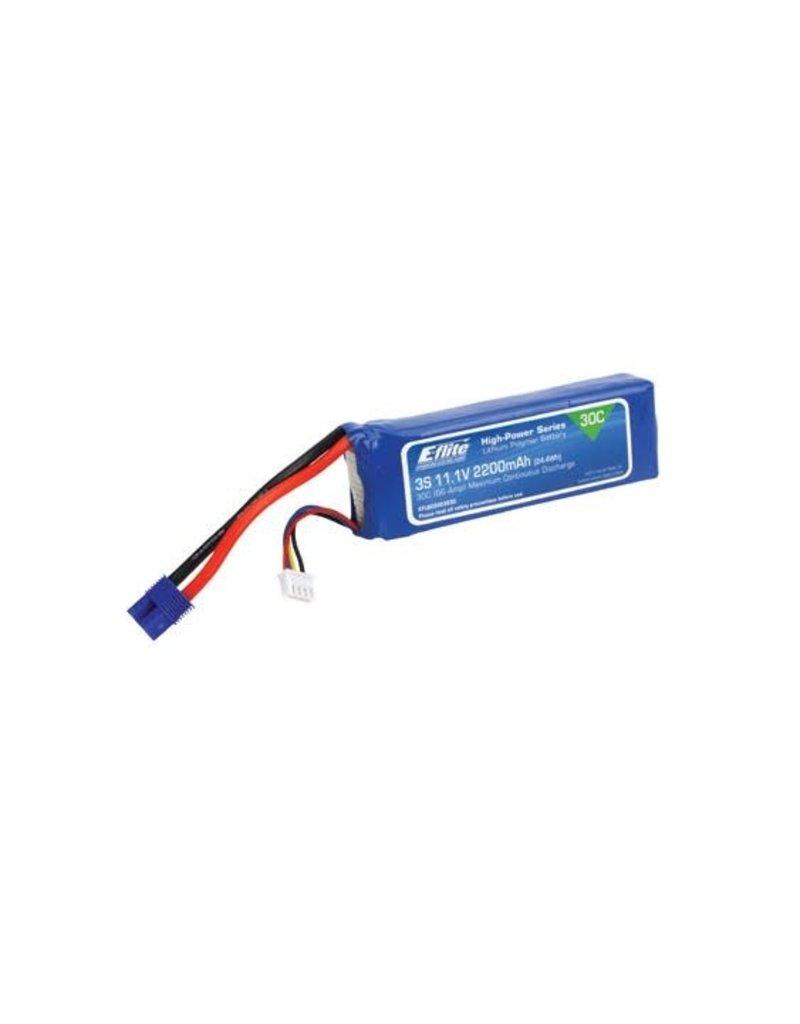 E-Flite E-Flite 2200mah 3S 11.1v 30C LiPo Battery with EC3 Connector