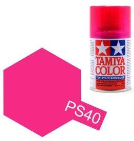Tamiya Tamiya PS-40 Translucent Pink Polycarbanate Spray Paint 100ml