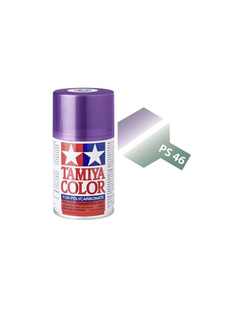 Tamiya Tamiya PS-46 Iridescent Purple/Green Polycarbanate Spray Paint 100ml